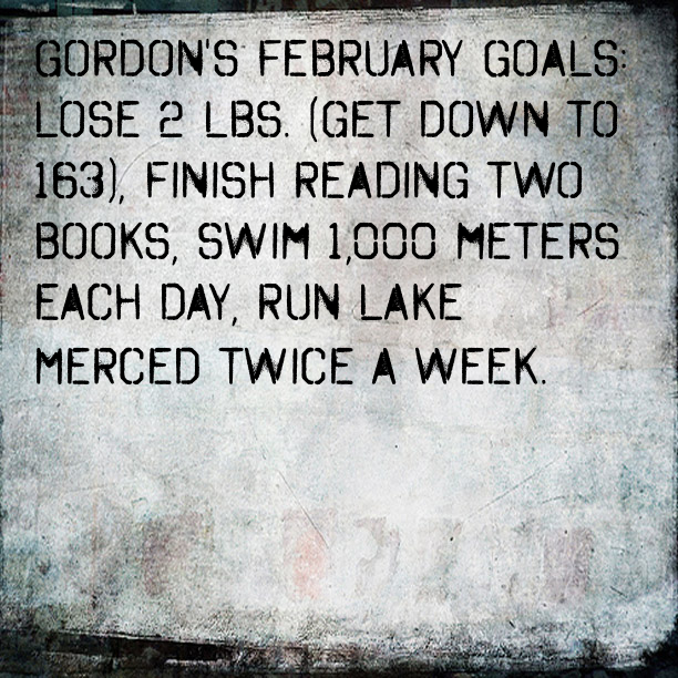 Gordon's February Goals