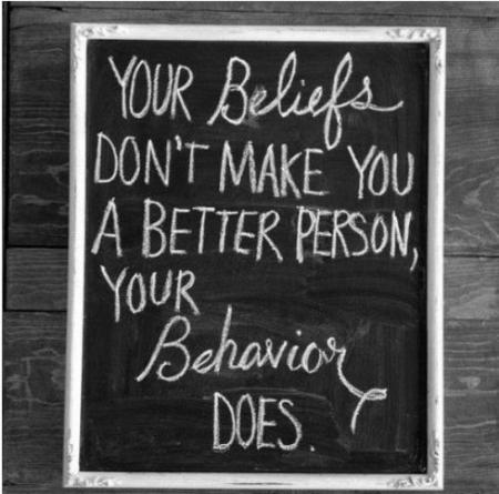 Beliefs v.s. Behaviors