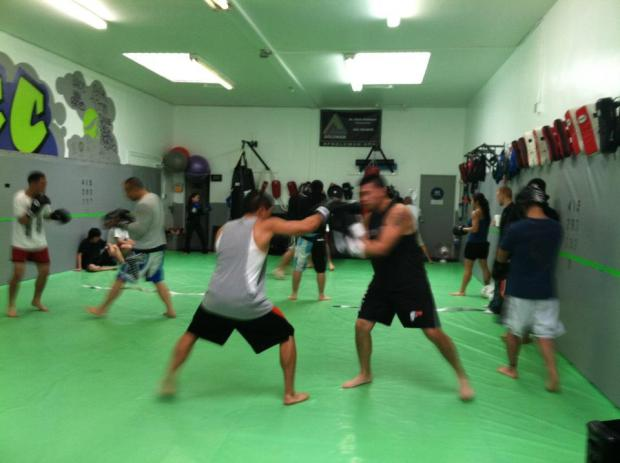 FTCC: me (Left), my crazy muay thai friend Jeff (Right)