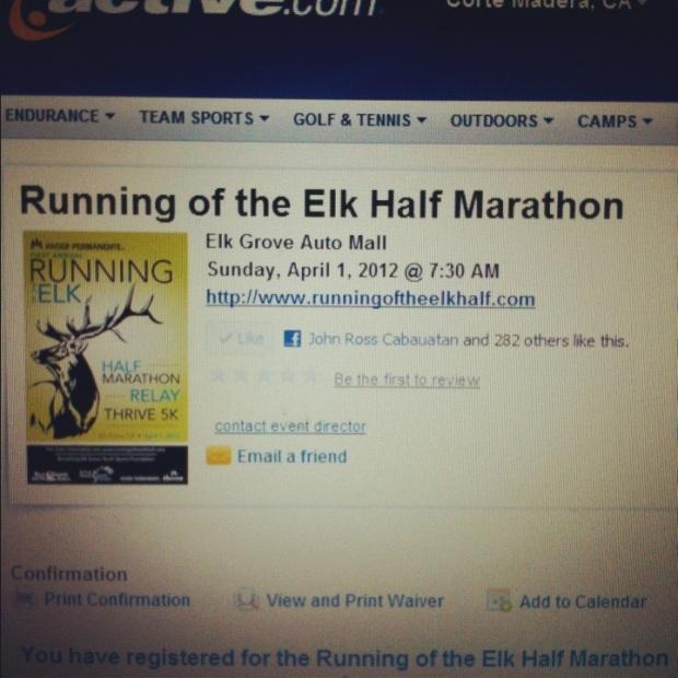 Running of the Elk Half Marathon in Elk Grove, CA