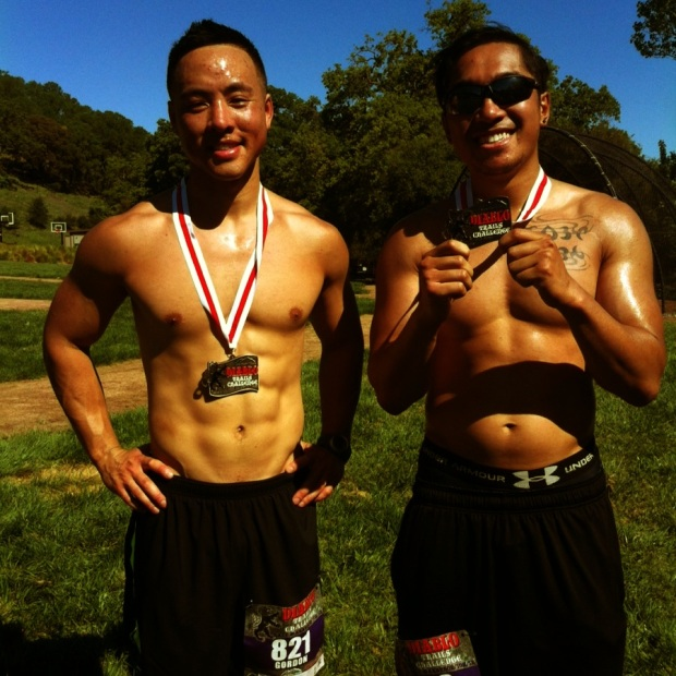 After the race with our first ever (but not last) medals
