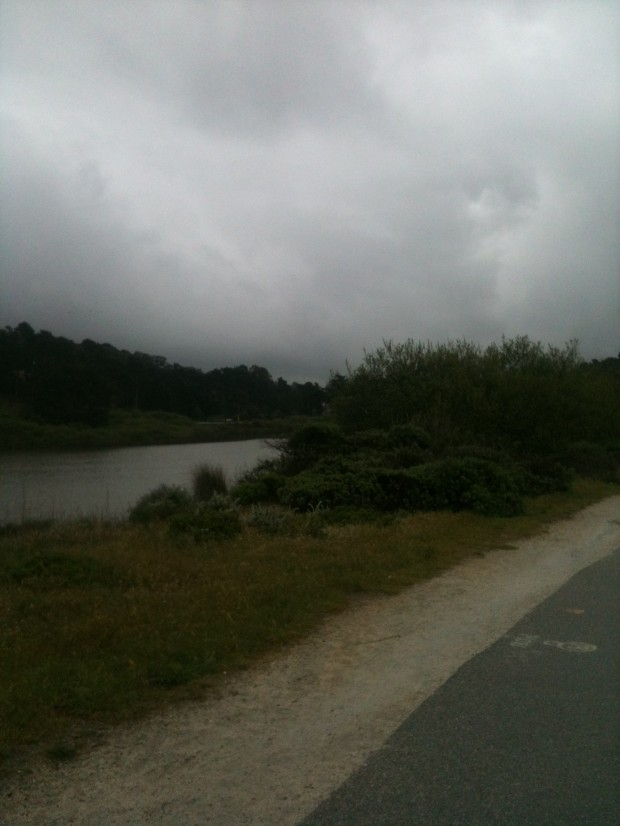 Lake Merced on a rainy day