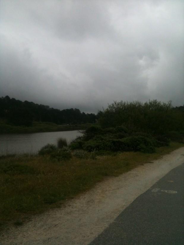 Lake Merced on a rainy day