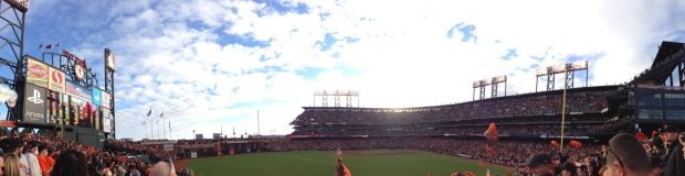 A panoramic view from our seats at Game 1 of the 2012 World Series