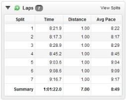 7 Mile - Lap Times