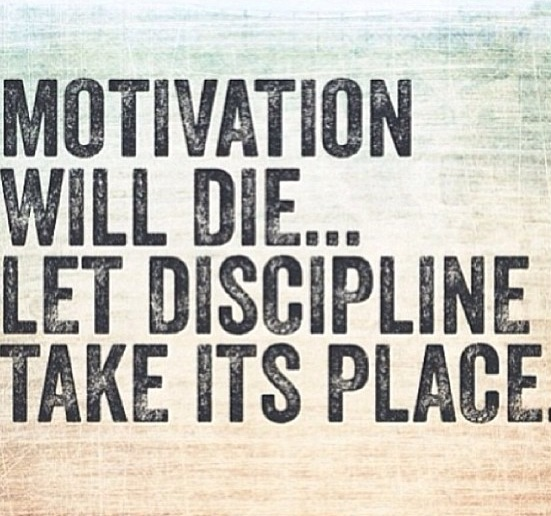 Discipline > Motivation
